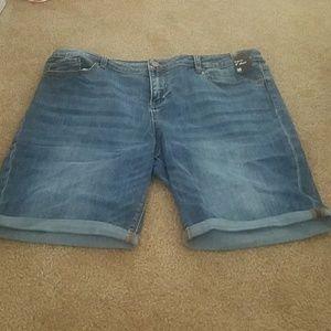 NY & Co Crop Jean Shorts